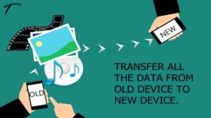 Transfer data from old mobile to new