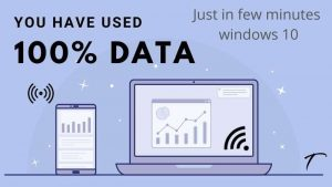 Data used to fast while connected with laptop fix